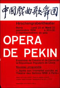 L'Opéra de Pékin à Berne - 22 et 12 septembre 1958