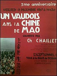 13 décembre 1967 - Un Vaudois dans la Chine de Mao, causerie de Ch. CHAILLET