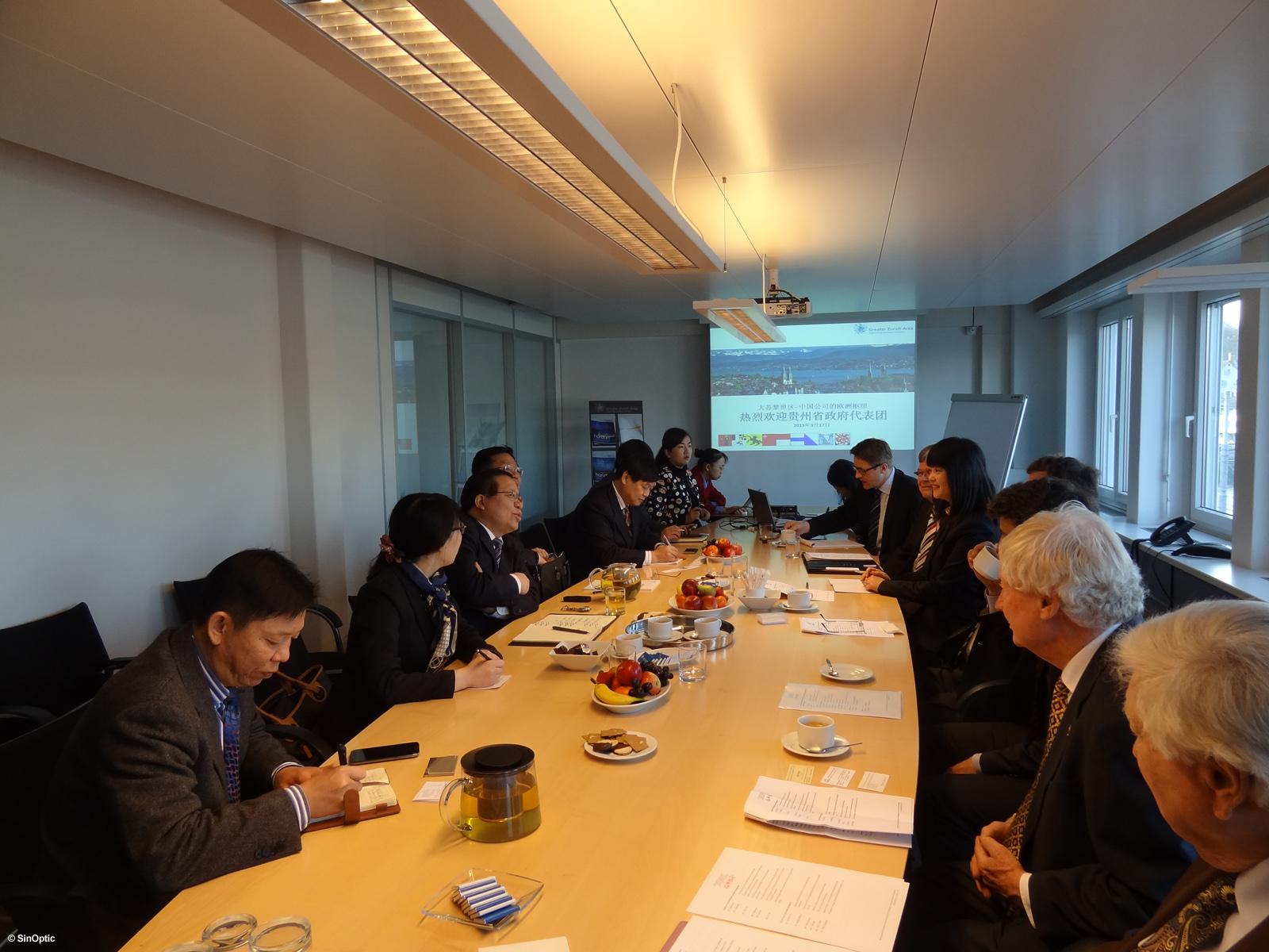 Une double délégation du Guizhou reçue à Zurich
