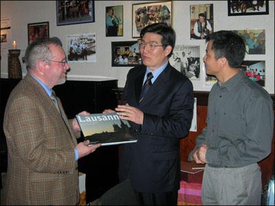 Rencontre avec une délégation de l'Association du peuple chinois pour l'amitié avec l'étranger de la province du Jiangsu