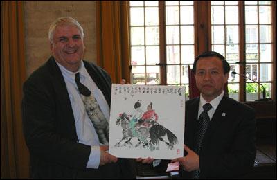 Accueil d'une délégation de la Municipalité de Qingdao