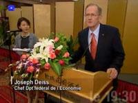 M. DEISS s'adresse à l'auditoire lors du déjeuner offert par la Nouvelle zone économique