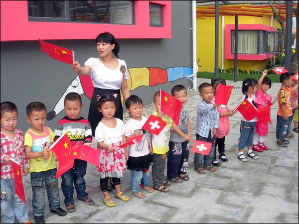 Chongzhou - 3 septembre 2010 - Inauguration de l'école maternelle de Longxing