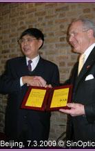 Cliquer sur l'image pour l'agrandir - M. CHEN Haosu et M. Thomas WAGNER, Beijing, 7.3.2009