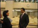 Bundesrätin Doris LEUTHARD mit Wirtschaftsminister BO Xilai