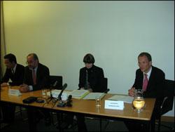 Beijing - 27 octobre 2006 - conférence de presse dans les locaux de l'Ambassade de Suisse